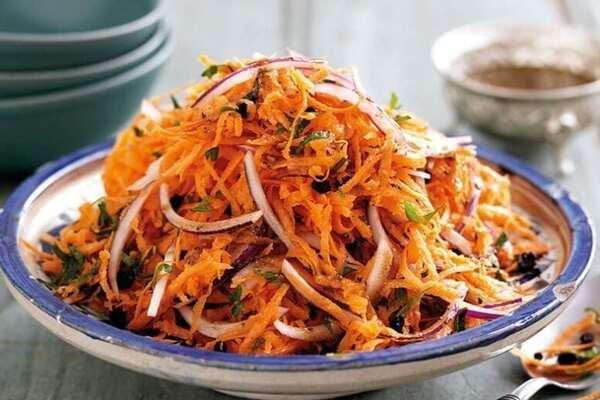Салат із серця та корейської моркви