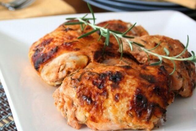 Жареная курица в медово-горчичном соусе