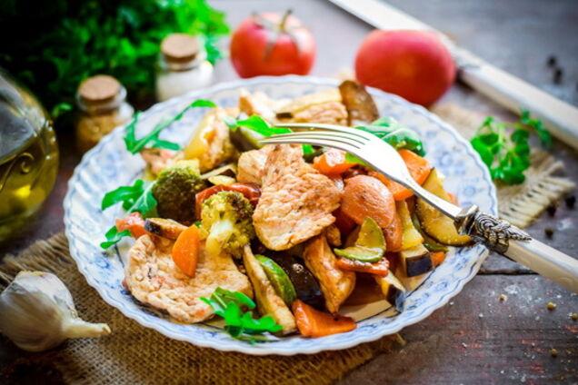 Індичка в рукаві з овочами