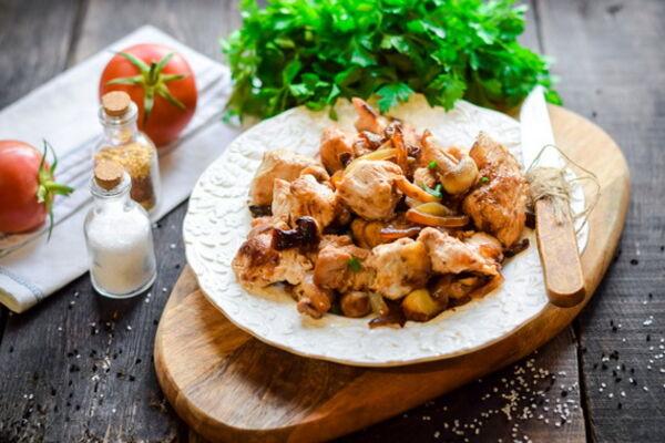 Индейка с картошкой и грибами в рукаве