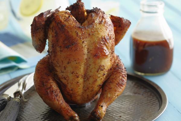 Курица на банке с горчицей и сметаной