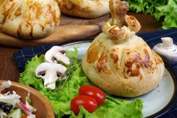 Курица в тесте с картошкой