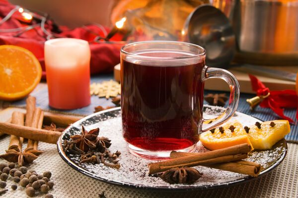 Алкогольный глинтвейн с чаем