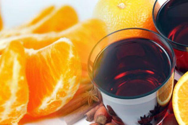 Алкогольний глінтвейн із мандаринами