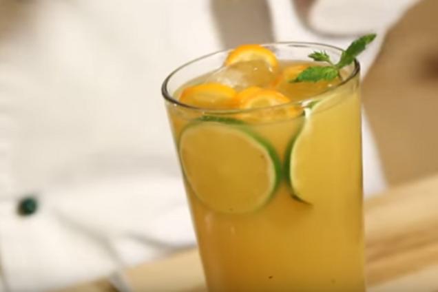 Имбирно-облепиховый лимонад