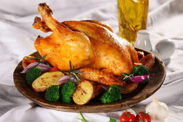 Курица на сковороде гриль