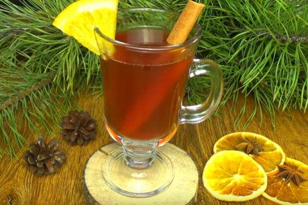 Глинтвейн с вишневым соком и имбирем