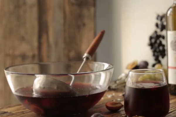 Пряный крюшон из красного вина