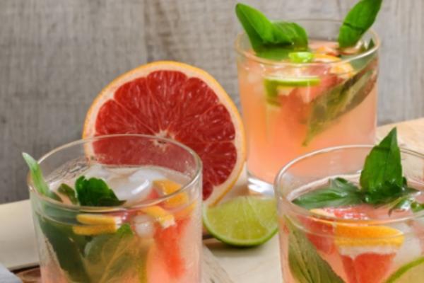 Грейпфрутовый лимонад с имбирем