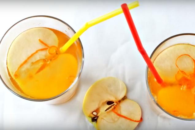Глинтвейн с яблочным соком и лимонадом