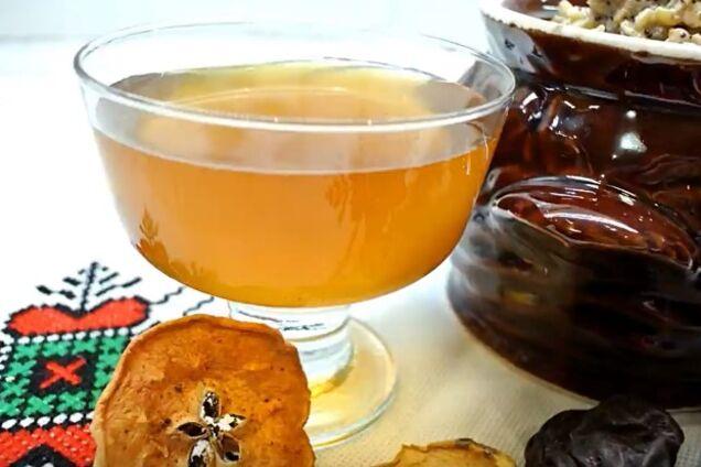 Узвар с медом и черносливом