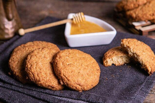 Овсяное печенье на кефире с медом