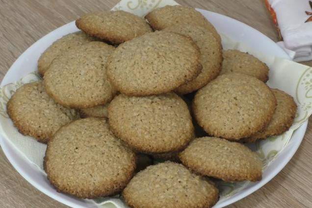 Рассыпчатое овсяное печенье