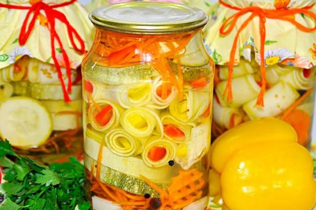 Маринованные кабачки в медовом маринаде