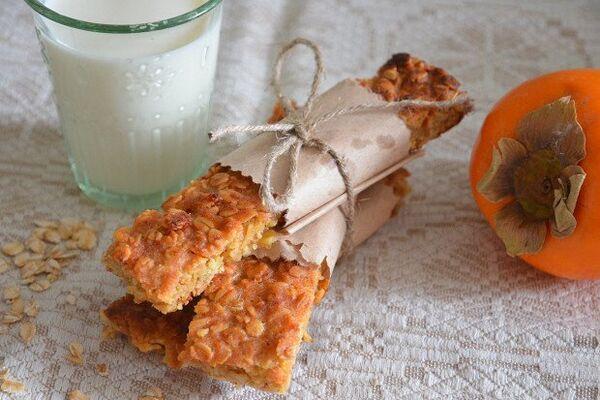 Вівсяне печиво з хурмою