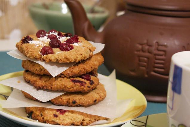Вівсяне печиво із журавлиною