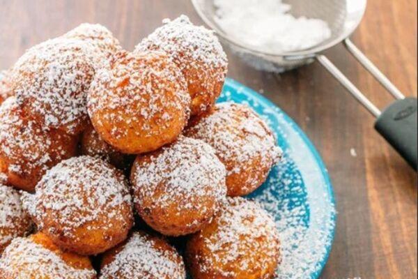 Творожные пончики в панировке