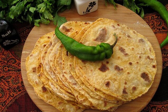 Индийский хлеб ''чапати''