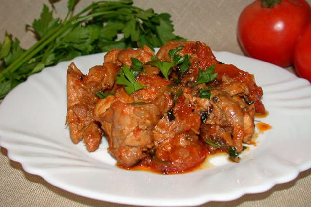 Чахохбили с болгарским перцем