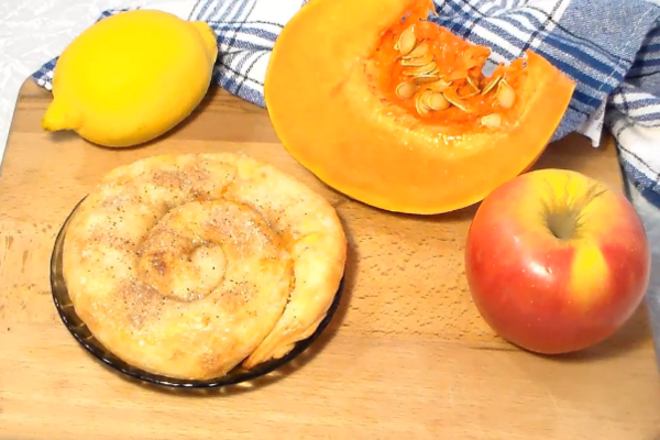 Вертута з гарбузом і яблуком