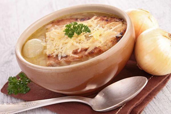 Луковый суп с сухим вином