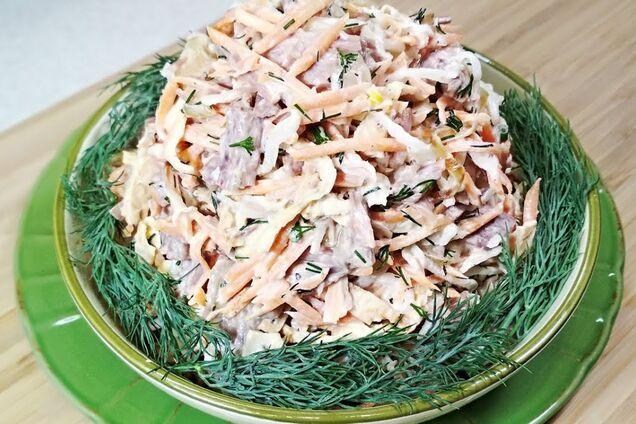 Салат с дайконом и морковью