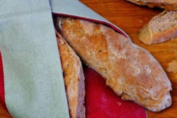 Гречнево-пшеничный багет