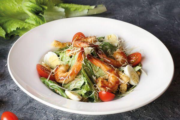 Салат ''Цезар'' з морепродуктами