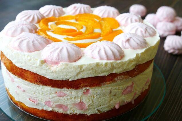 Торт із зефіру та фруктів