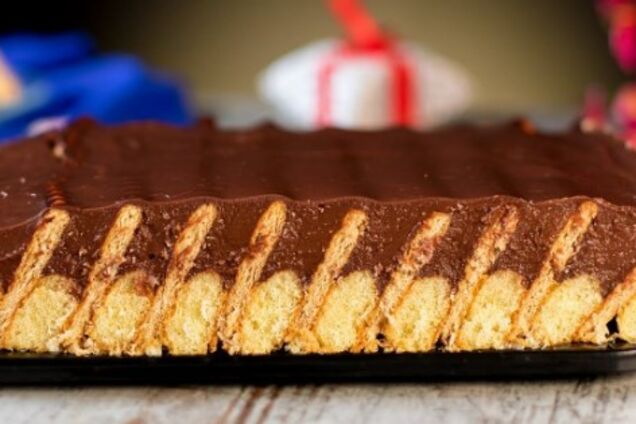 Торт з печива ''Савоярді''