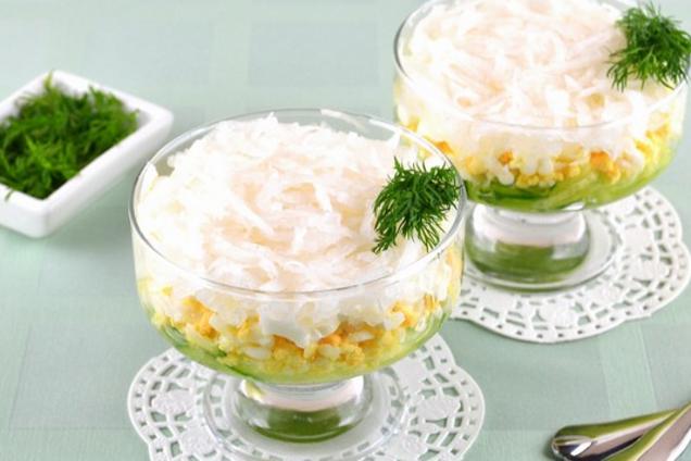 Салат с дайконом и сметаной