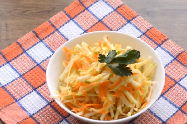 Салат с дайконом и овощами