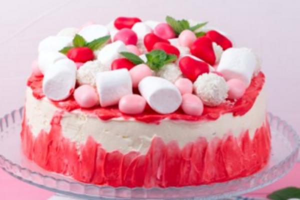 Торт із зефіру без випічки