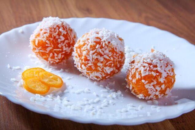 Диетические конфеты из моркови