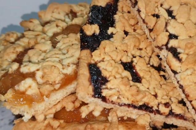 Венское печенье с двумя начинками