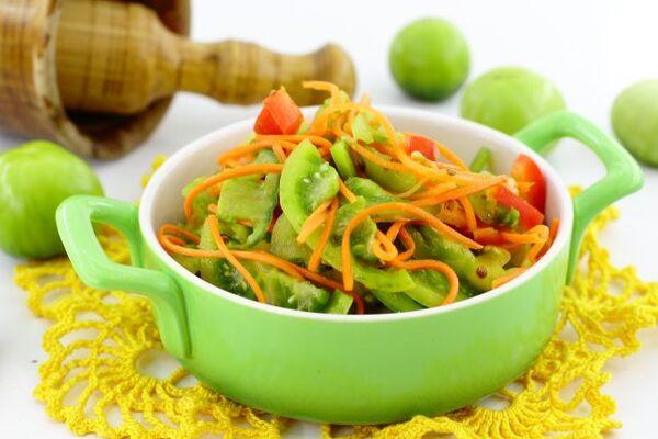 Салат из зелёных помидоров по-корейски