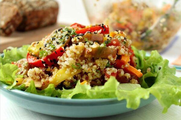 Теплий салат з гарбузом