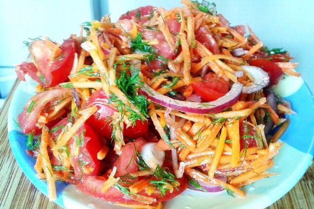 Салат з гарбузом і помідорами