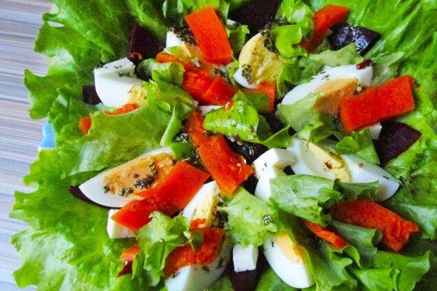 Салат з гарбуза з яйцем