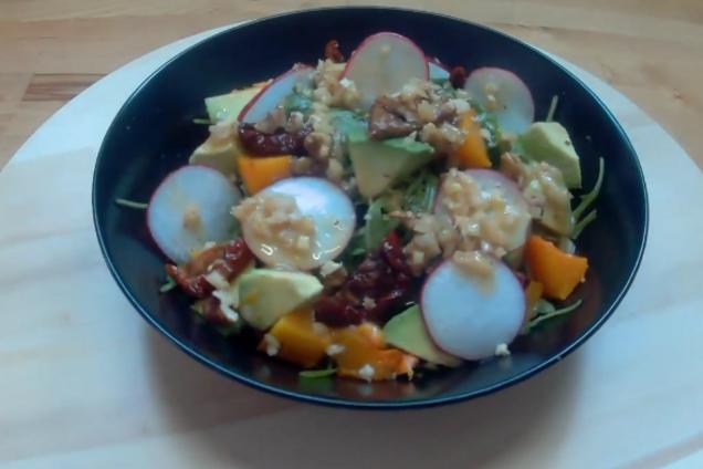 Салат з гарбузом і руколою