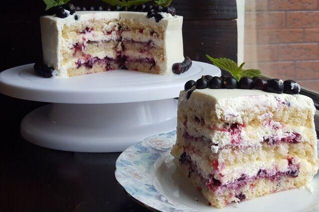 Торт зі смородиною