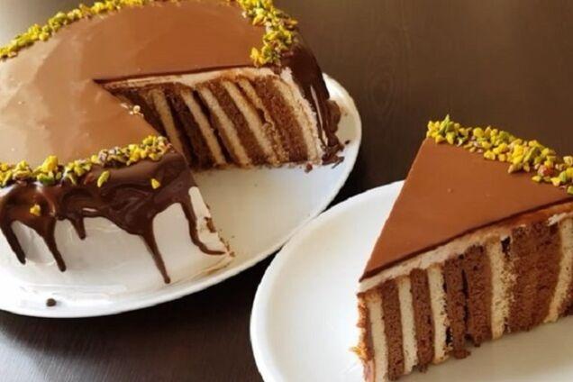 Торт из галетного печенья