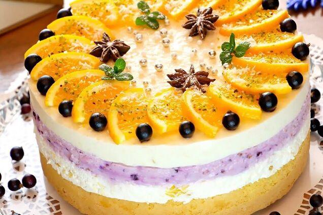 Торт з апельсинами