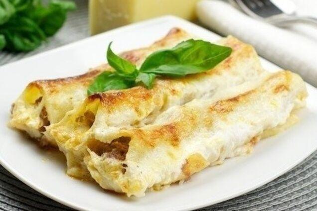 Каннеллони с сыром ''Пармезан''