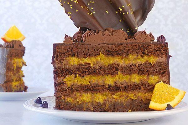 Шоколадний торт з апельсином