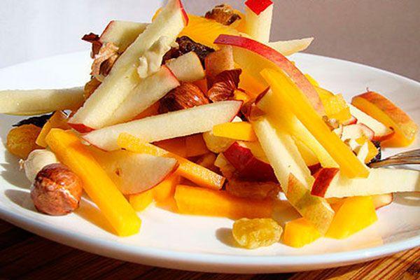 Салат из тыквы с яблоком и морковью