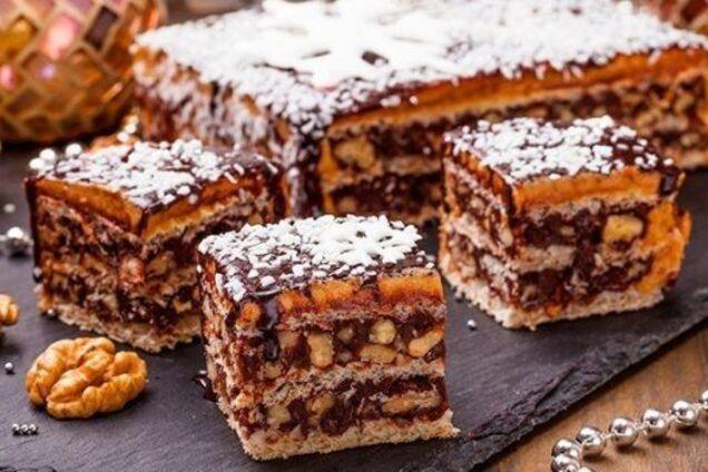 ''Королевский'' торт с орехами