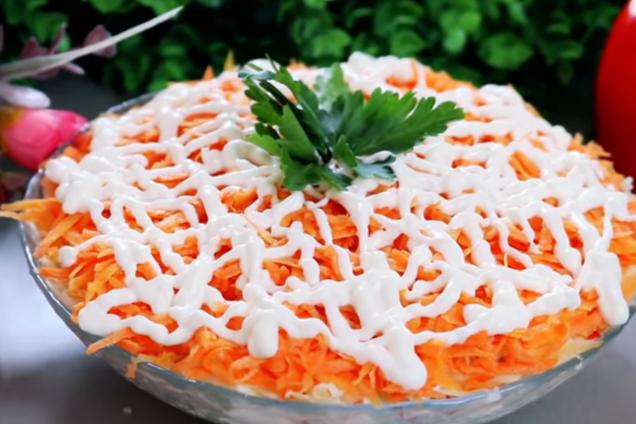 Картопляний салат з крабовими паличками