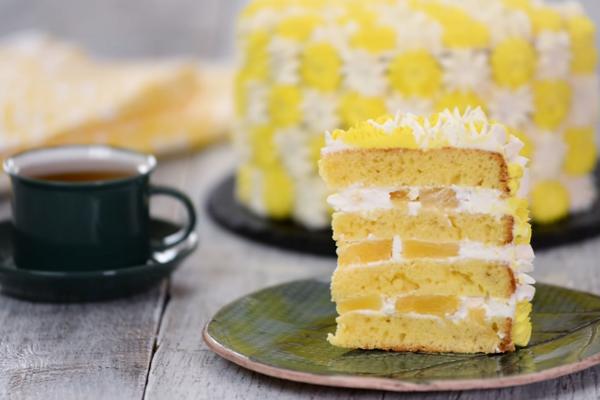 Торт с ананасами