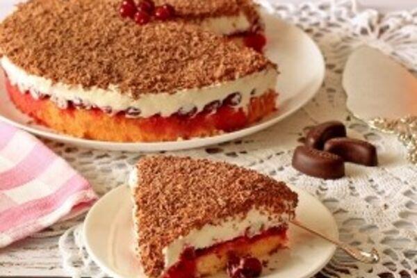 Торт с ''Маскарпоне'' и вишней